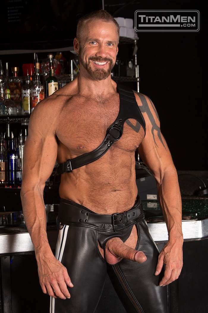 Leather Rough - Dallas Steele Gay Porn Muscle Daddy Leather Dildo 1 ...
