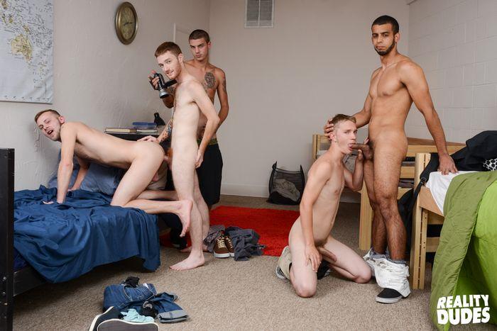 Gay College Cum Orgy 105