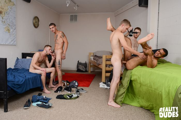 Boys invade dormitory and have orgy