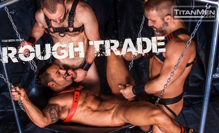 Gay Porn David Benjamin Nick Prescott Dirk Caber TitanMen Leather Sex