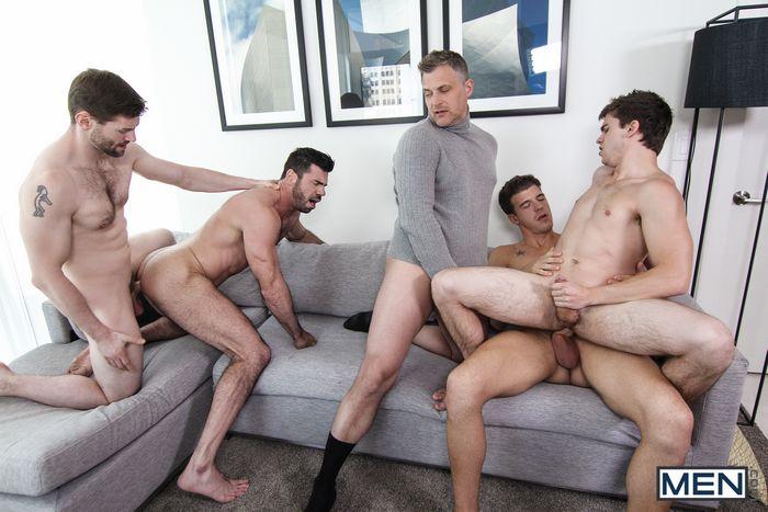 Gay Porn Orgy Will Braun Billy Santoro JJ Knight Brenden Cage Dennis West