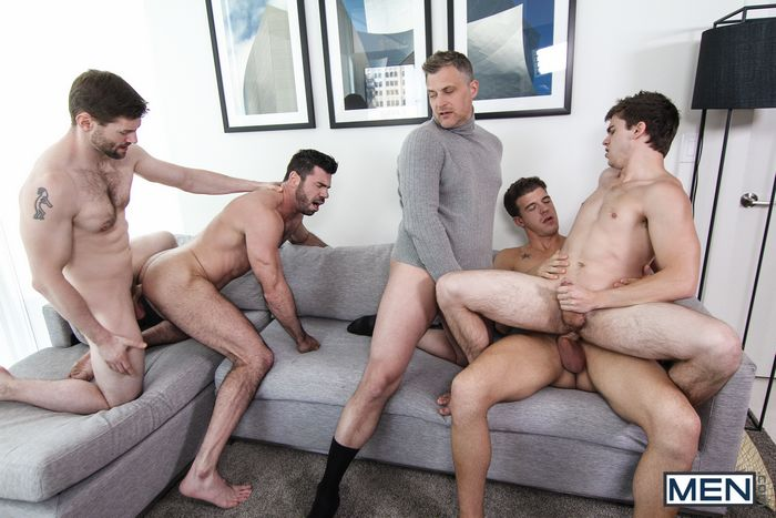 Gay Porn Orgy Will Braun Billy Santoro JJ Knight Brenden Cage Dennis West