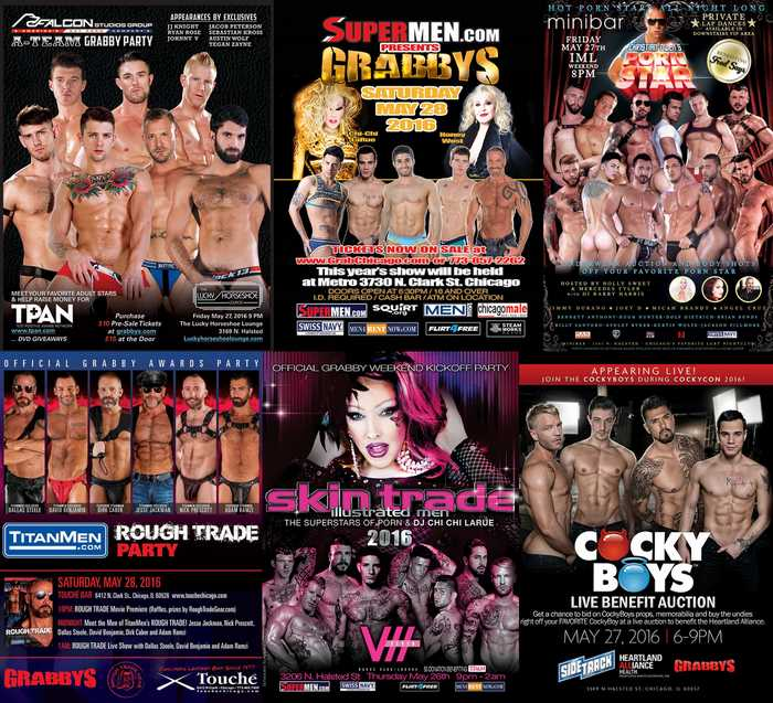 Grabby Weekend 2016 Gay Porn Party Live Show