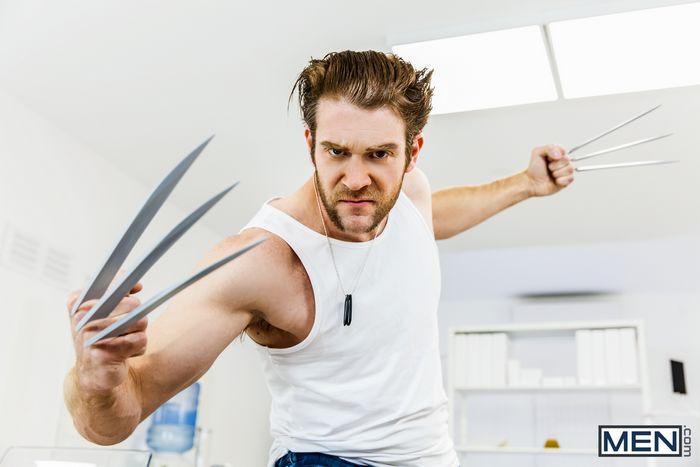 X-Men Gay Porn Parody XXX Wolverine Fucks Cyclops Colby Keller Brenner Bolton 1