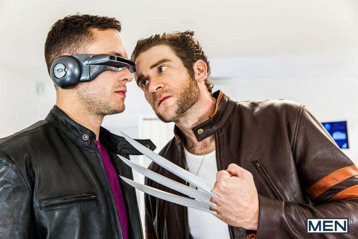 X-Men Gay Porn Parody XXX Wolverine Fucks Cyclops Colby Keller Brenner Bolton 3