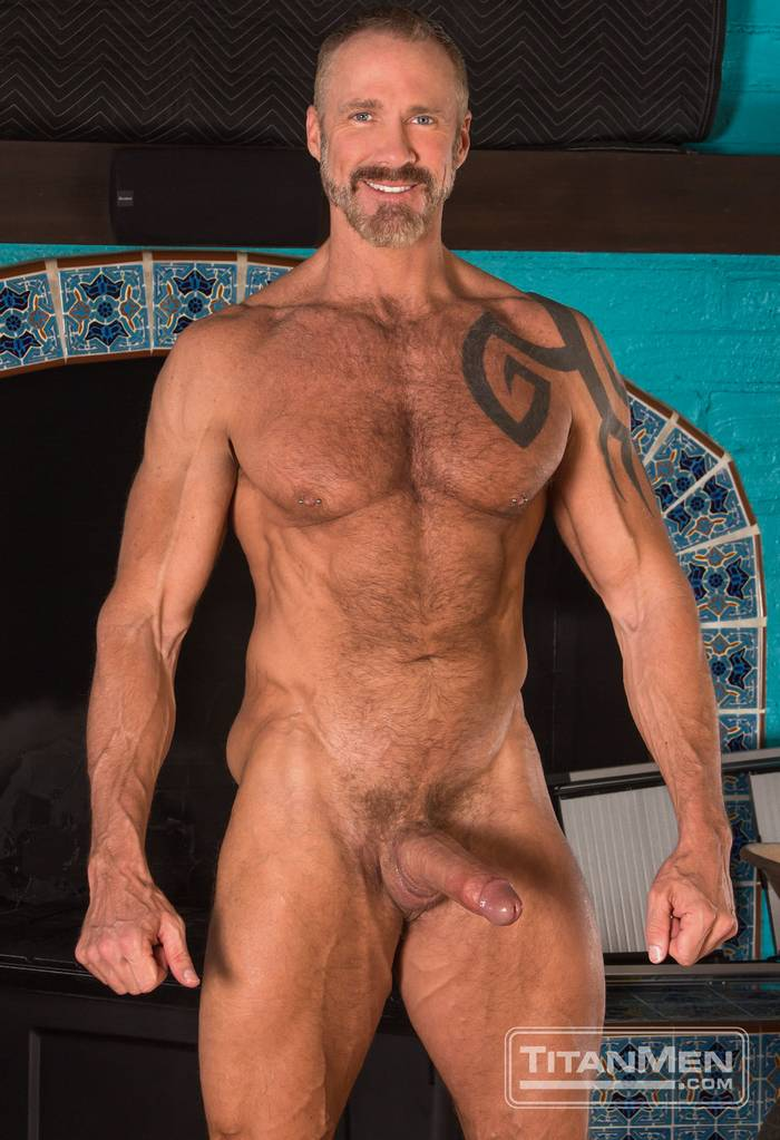 Older shaved nude