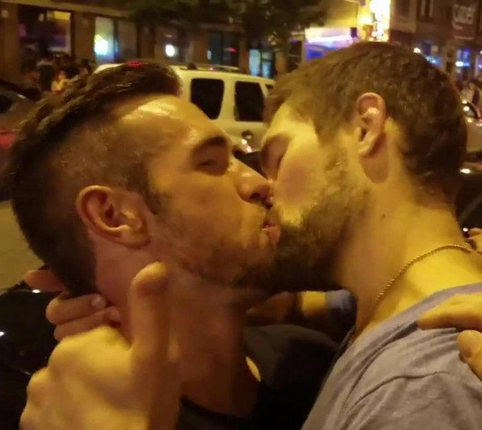 Gay Kiss Alex Mecum Griffin Barrows Porn Stars Pride