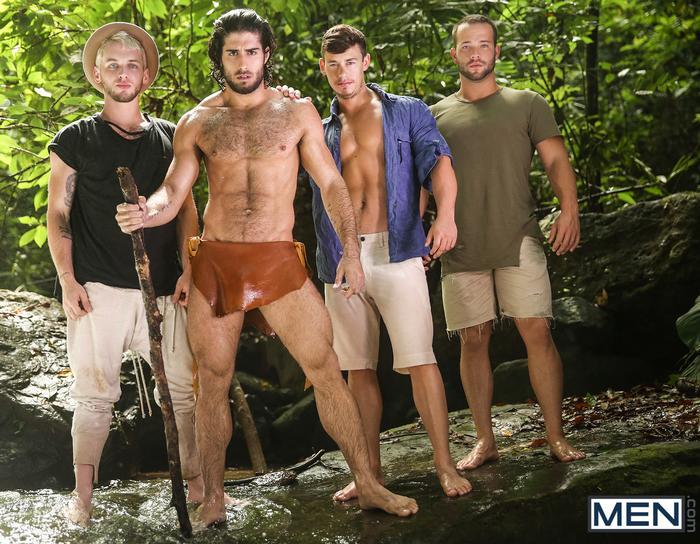 Tarzan Gay XXX Porn Parody Diego Sans Colton Grey Luke Adams Tobias