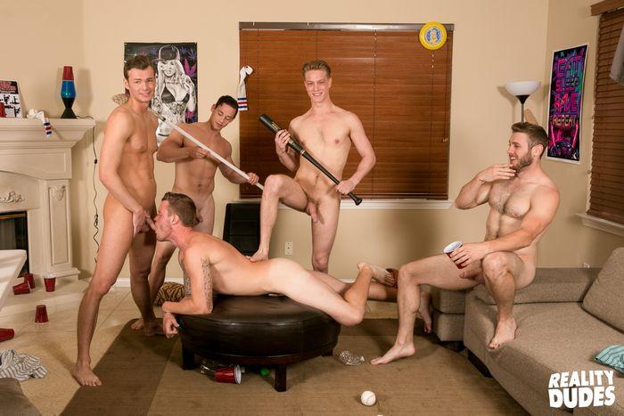 Gay dorm orgie