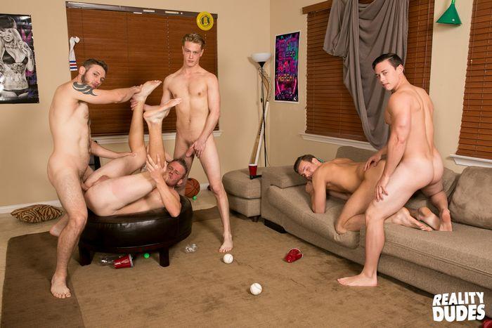 Gay dorm orgy