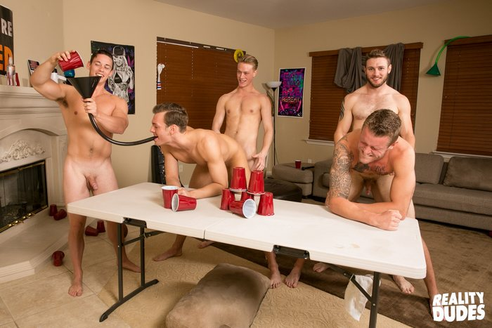 Gay Porn Orgy Bareback Sex DudeDorm Flip Cup 2 Bareback Fuck