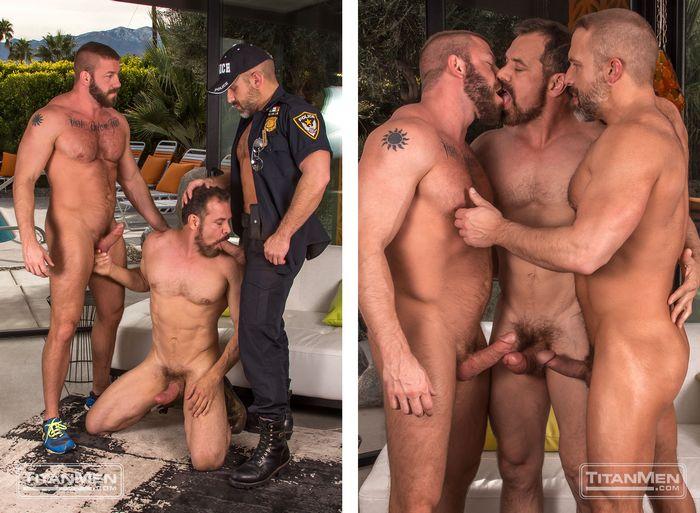 Hunter Marx Dirk Caber Max Sargent Gay Porn TitanMen 4