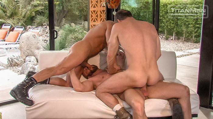 Hunter Marx Dirk Caber Max Sargent Gay Porn TitanMen 9
