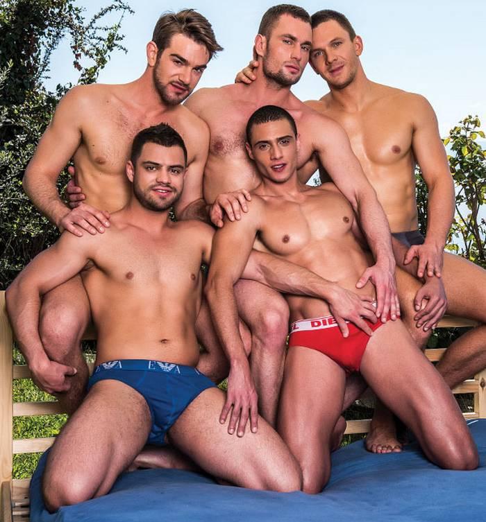 Zander Craze Gay Porn Bareback DP Orgy Stas Landon Ares Fly Javi Velaro  Andrey Vic 1 ...