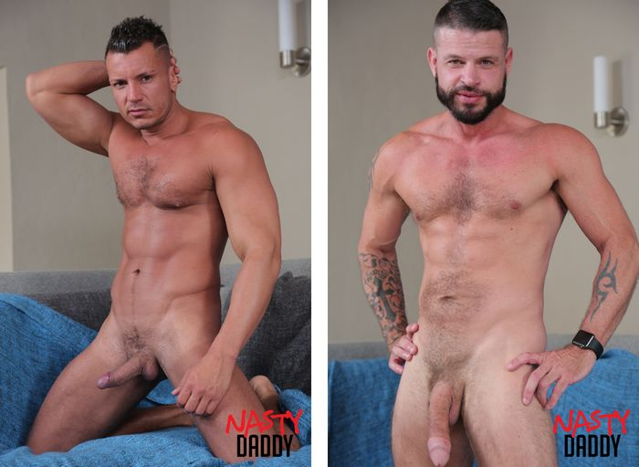 Nasty daddy males barebacking