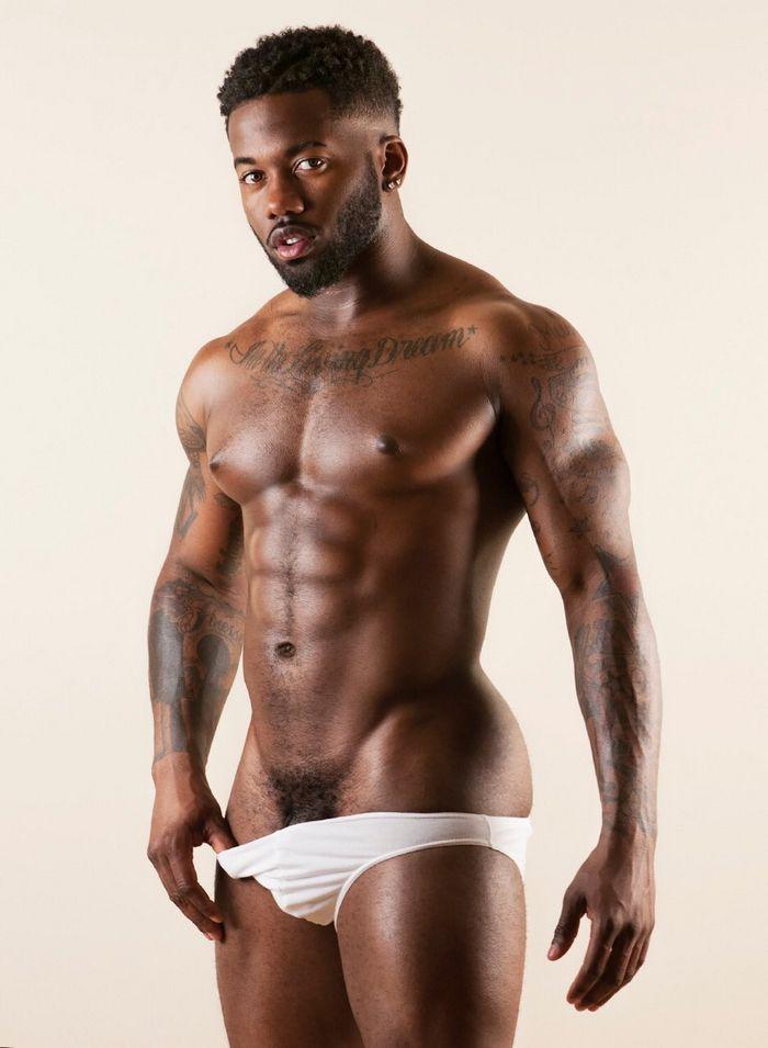 Bryan King Gay Porn Star Black Muscle Stud