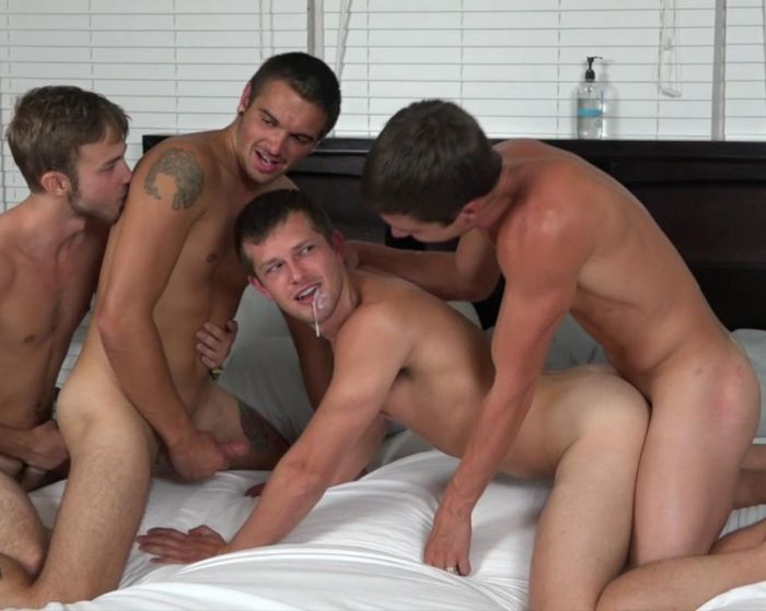 ColbyKnox Gay Porn Colby Chamber Mickey Knox Brandon Haze Mason Steele 4Way Fuck