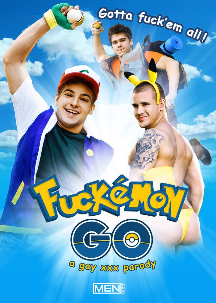 Fuckemon Go Gay XXX Parody Pokemon Gay Porn Johnny Rapid Will Braun Adam Bryant