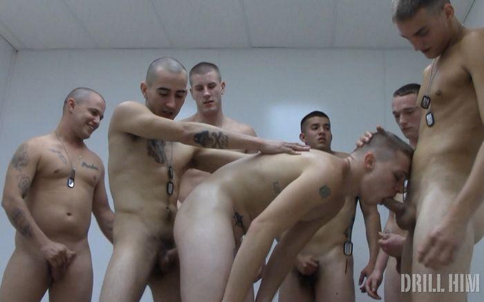 Gay Porn DrillHim Fresh Meat Bareback GangBang XXX