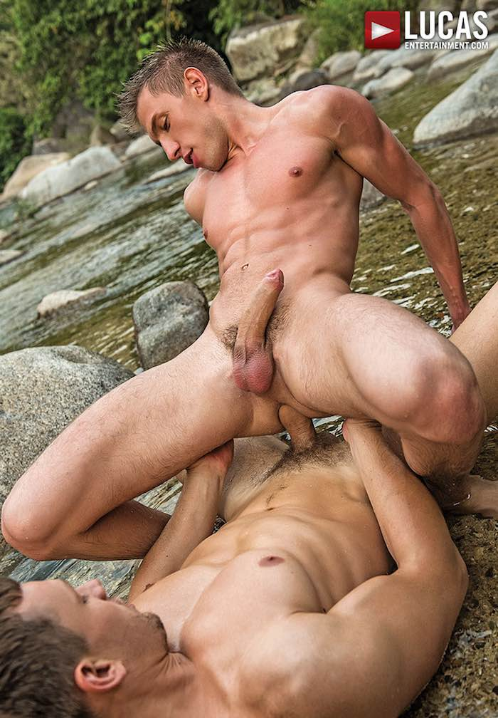 Hardcore bareback gay sex outdoor