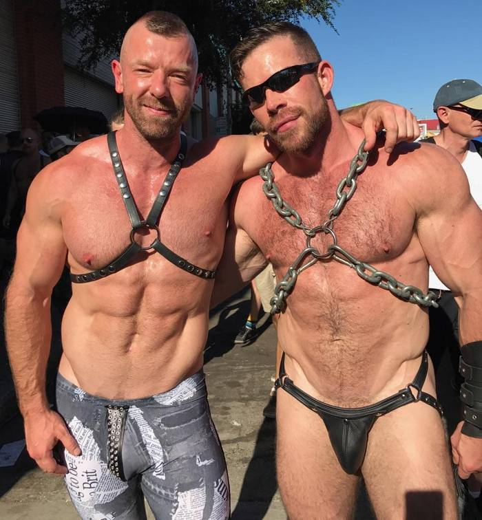 Muscle leather gay porn