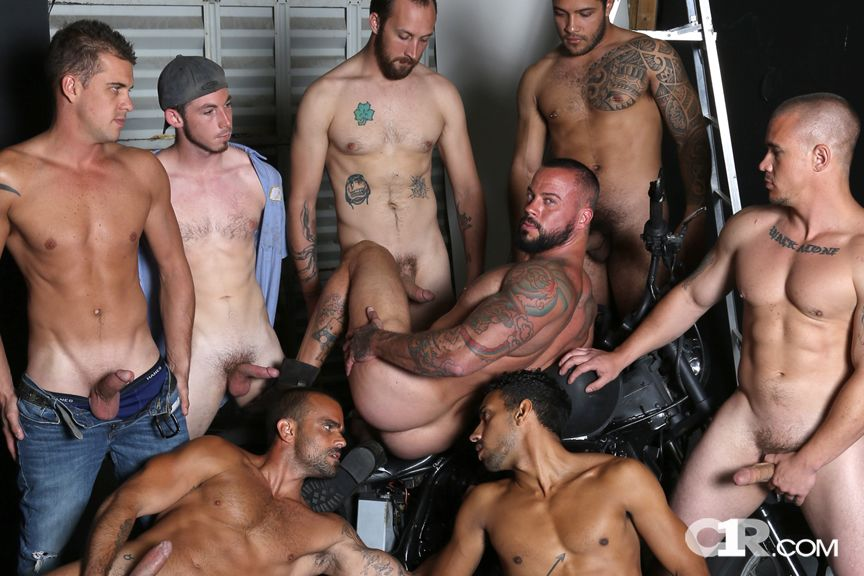 Sean Duran Gang-Banged By 7 Gay Porn Hunks In Hog Wild-8020