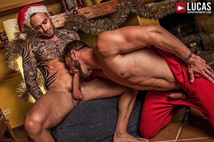 Dylan James Ace Era Gay Porn Bareback Sex Christmas
