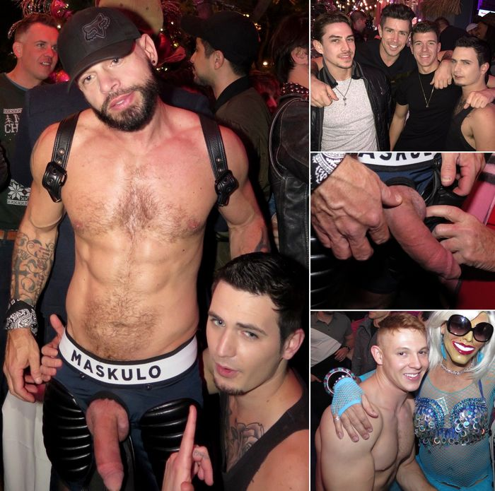 Gay Porn Stars HustlaBall Pre-Party Tex Davidson Bray Love