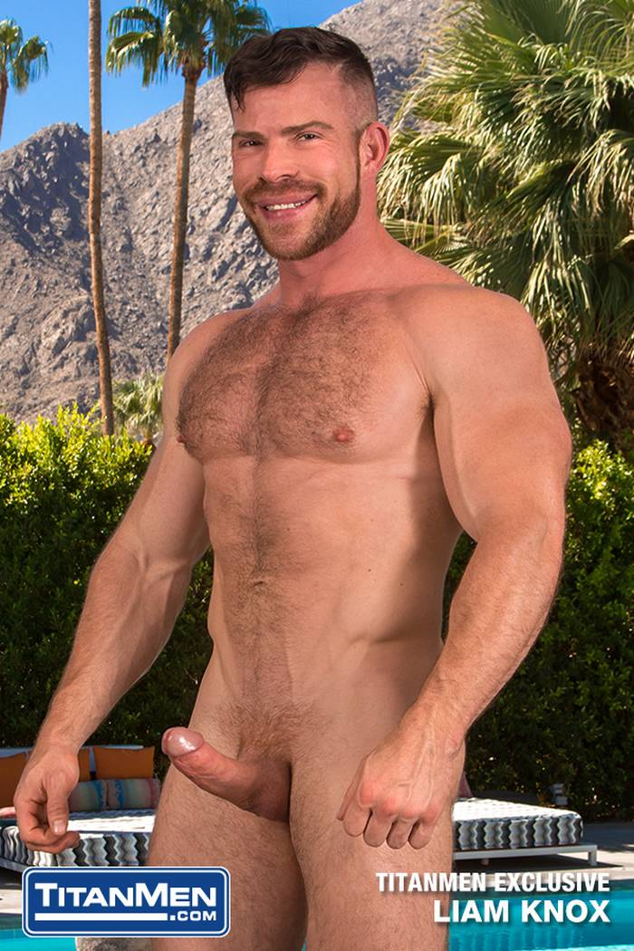 Liam Knox Gay Porn Star Muscle Hunk TitanMen Exclusive Naked Big Dick