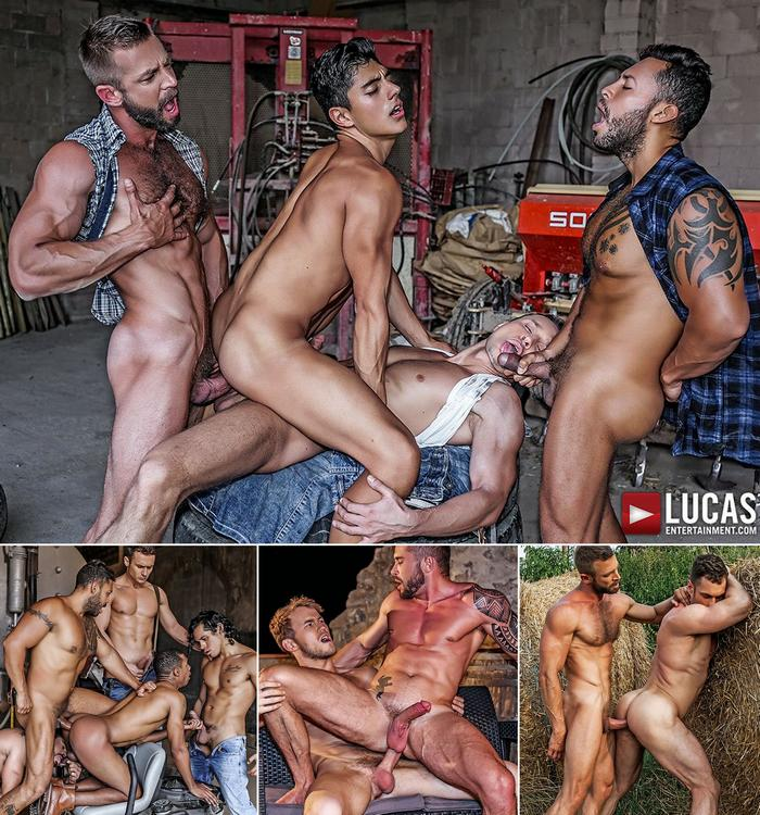 RAW ROUGHNECKS Gay Porn Bareback Sex