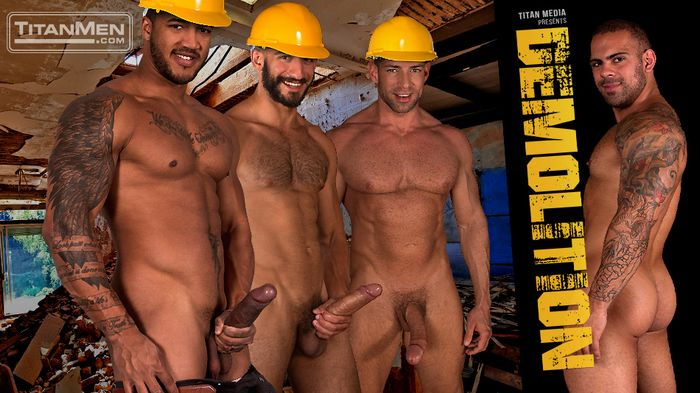 TitanMen Gay Porn DEMOLITION Jason Vario Eric Nero Bruce Beckham Lorenzo Flexx