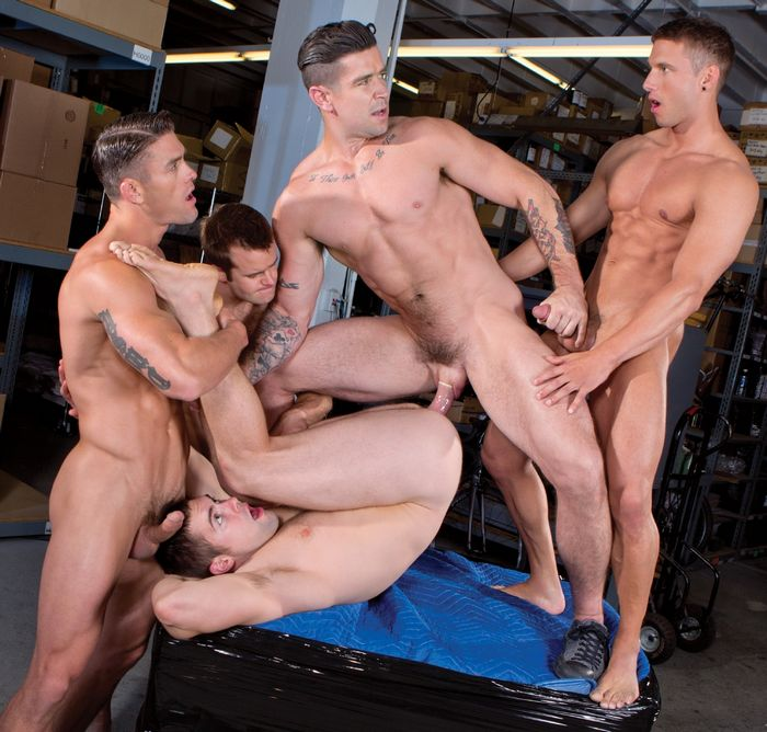 "【影片名稱】:FalconStudios: Trenton Ducati, Connor Patricks, Ryan Rose, Rod Peterson and Griffin Barrows' hot orgy in ""Urban Spokes"""