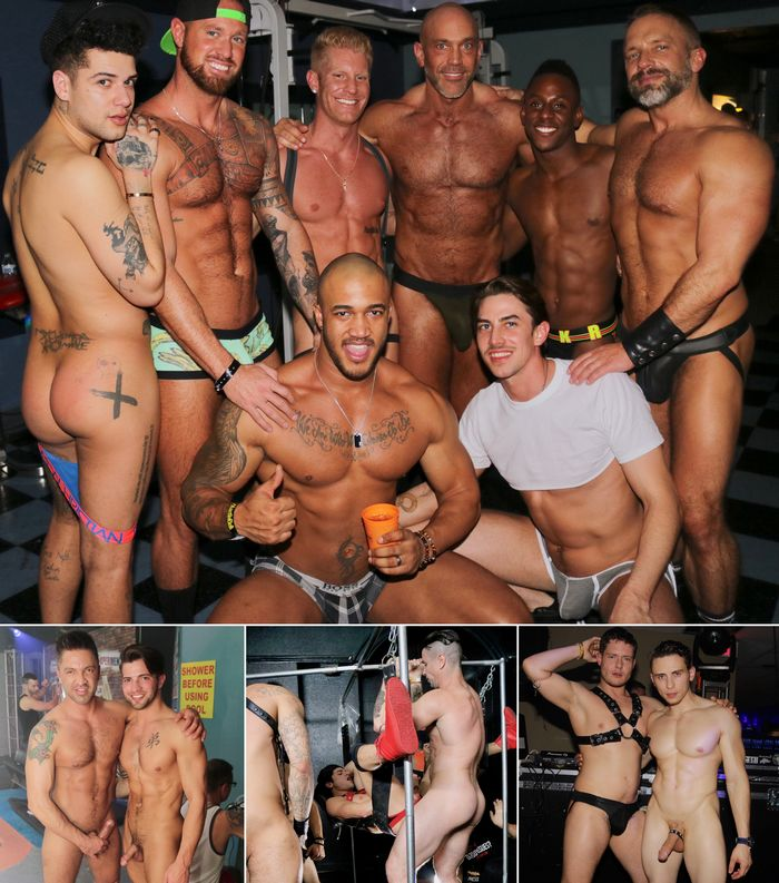 Gay Porn Stars HustlaBall Las Vegas 2017 VIP Party