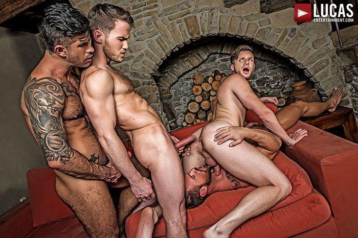 bareback and breeding roman orgy