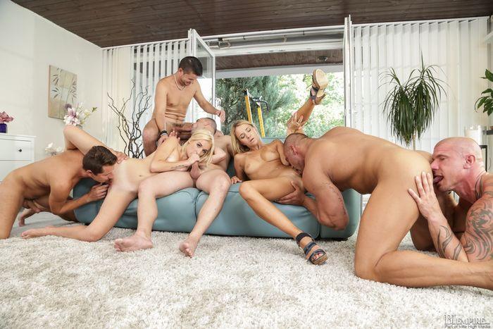 Bisexual Bareback Orgy
