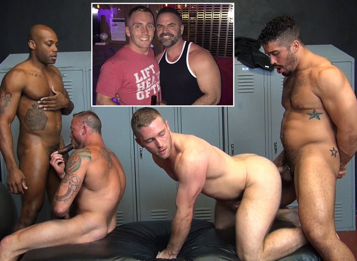 Scott Riley Gay Porn Bishop Angus Sean Duran Osiris Blade Trey Turner Bareback Orgy