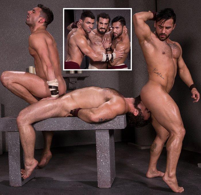 Gay Porn Bruno Bernal Jaxton Wheeler Ian Greene Roman Gladiator Sex
