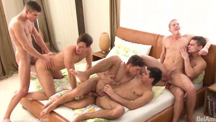 BelAmi Gay Porn Orgy Adam Archuleta Hoyt Kogan Joel Birkin Rocco ALfieri Yuri Alpatow Scott Reeves