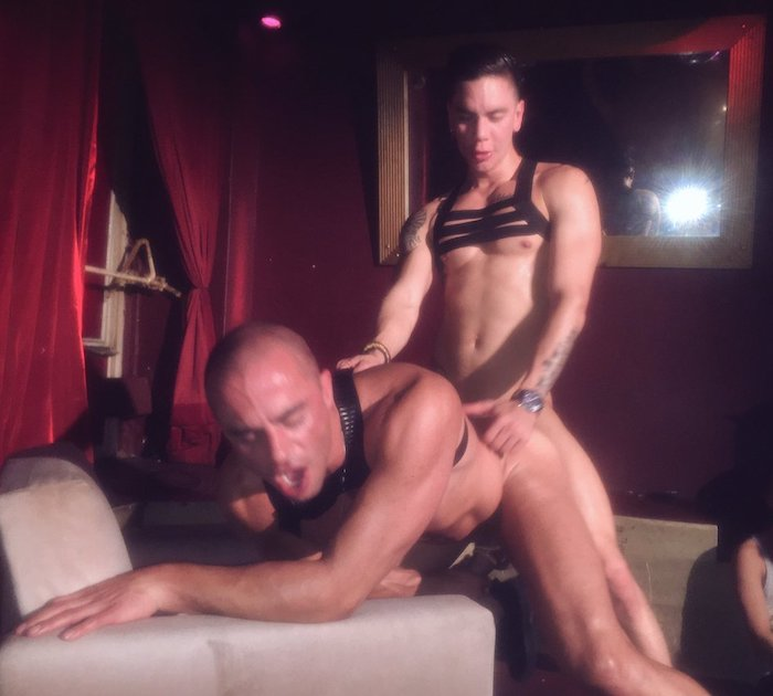 Stage pornstar Porn night stage hot august fucked on