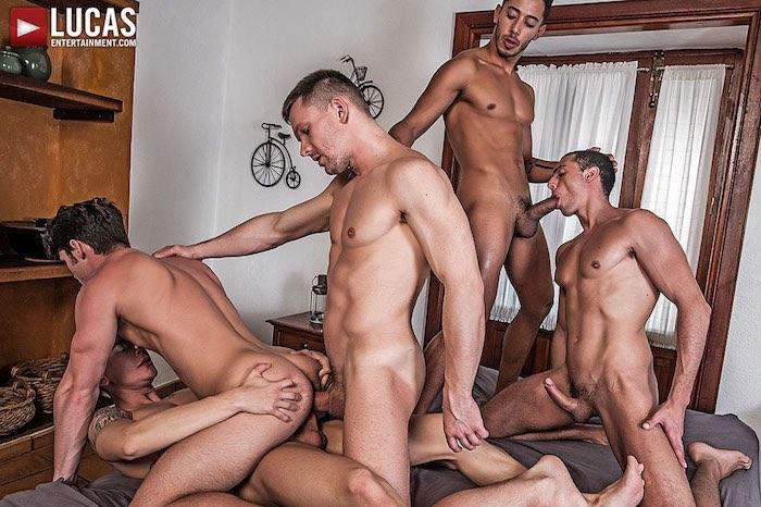 Gay Porn ORGY DP Devin Franco Andrey Vic Angel Cruz Drae Axtell Javi Velaro
