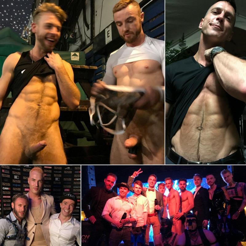 Prowler Porn Awards 2017 Gay Porn Stars Paddy OBrian JP Dubois Gabriel Phoenix Gabriel Cross