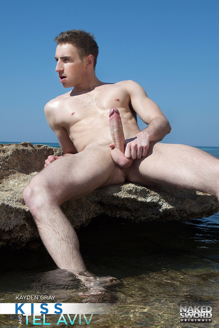 ryan rose bottoms for kayden gray on gaash beach in