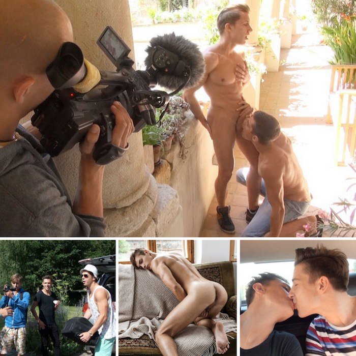 BelAmi Gay Porn Behind The Scenes Raphael Nyon Adam Archuleta