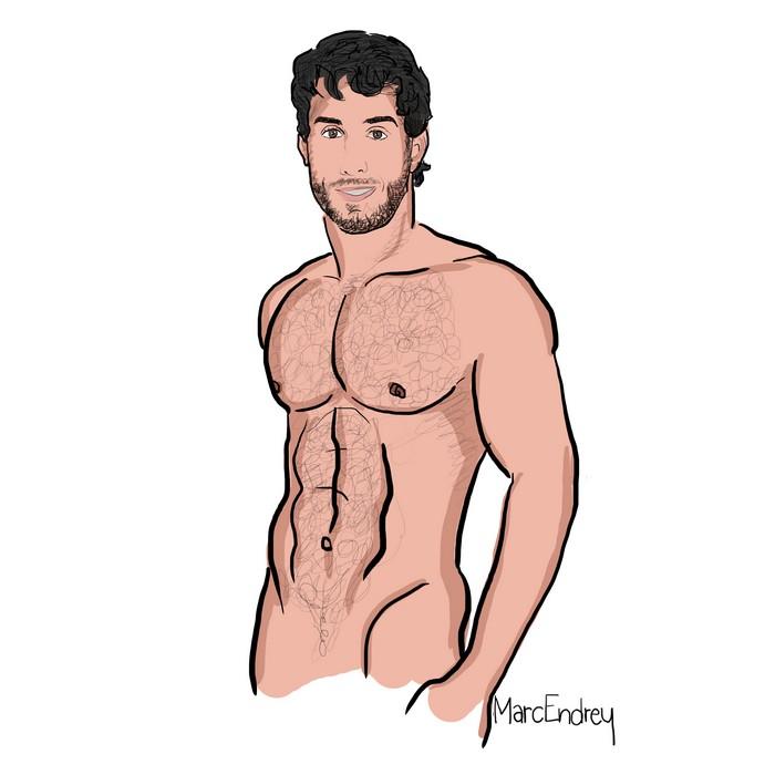 Diego Sans Gay Porn Star Drawing Marc Endrey