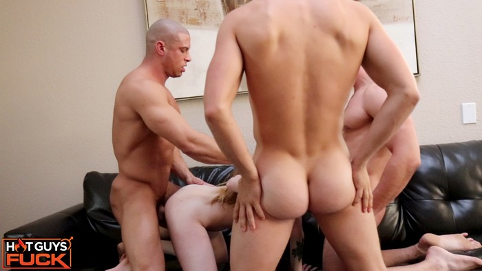 Sean Costin Brady Quinn Rob Burry GangBang Bodybuilder Group Fuck