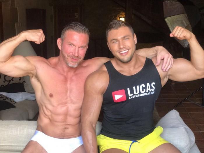 Brock Magnus Bodybuilder Gay Porn Star Shirtless LucasEnt