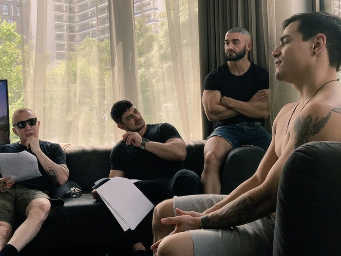 The Purple Army Faction Gay Porn Behind The Scenes Francois Sagat Dato Foland Arad Winwin