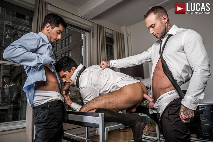 Gay Porn Dylan James Lee Santino Drae Axtell Big Cock Suit Sex