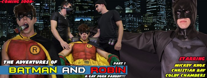 Batman Robin Gay Porn Parody ColbyKnox Jack Hunter Christian Bay Colby Chambers Mickey Knox