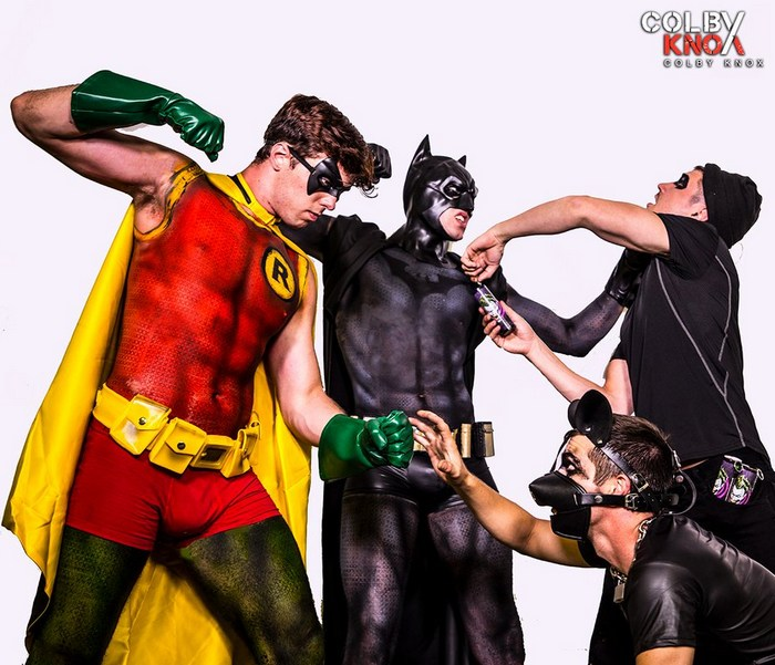 Batman Robin Gay Porn Parody Jack Hunter Christian Bay Colby Chambers Mickey Knox